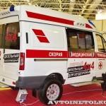 Автомобиль скорой медицинской помощи класс B Соболь 4х4 дизель Промышленные Технологии на выставке Здравоохранение 2013 сзади