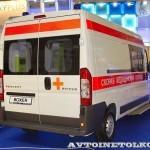 Реанимобиль класс C Peugeot Boxer НиАЗ на выставке Здравоохранение 2013 сзади