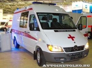 Автомобиль скорой медицинской помощи класс B Mercedes-Benz Sprinter СТ Нижегородец на выставке Здравоохранение 2013