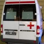 Автомобиль скорой медицинской помощи класс B Mercedes-Benz Sprinter СТ Нижегородец на выставке Здравоохранение 2013 сзади