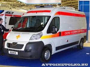 Реанимобиль класс C Peugeot Boxer НиАЗ на выставке Здравоохранение 2013