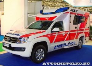 Модульный реанимобиль Volkswagen Amarok NEGEA Tamlans на выставке Здравоохранение 2013