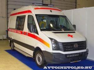 Реанимобиль класс C Volkswagen Crafter НиАЗ на выставке Здравоохранение 2013