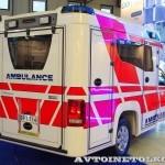 Модульный реанимобиль Volkswagen Amarok NEGEA Tamlans на выставке Здравоохранение 2013 сзади