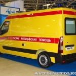 Автомобиль скорой медицинской помощи класс B Renault Master СТ Нижегородец на выставке Здравоохранение 2013 сзади