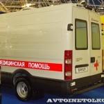 Автомобиль скорой медицинской помощи класс B IVECO Daily CNG СТ Нижегородец на выставке Здравоохранение 2013 сзади