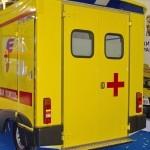 Модульный реанимобиль Ford Transit СТ Нижегородец на выставке Здравоохранение 2013 сзади