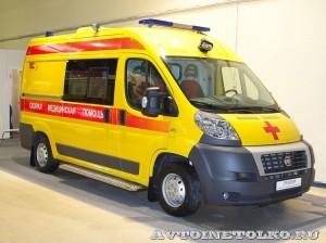 Автомобиль скорой медицинской помощи класс B FIAT Ducato Луидор на выставке Здравоохранение 2013