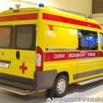 Автомобиль скорой медицинской помощи класс B FIAT Ducato Луидор на выставке Здравоохранение 2013 сзади