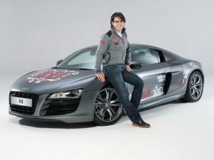 фотосессия олимпийского Audi R8 с участием Андрея Малахова