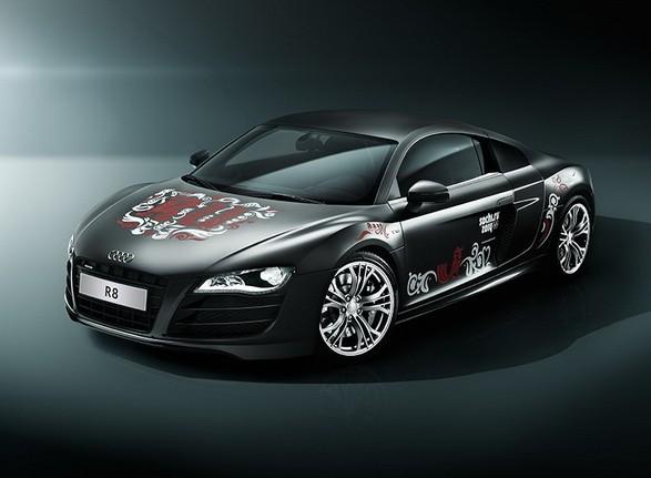фотосессия олимпийского Audi R8