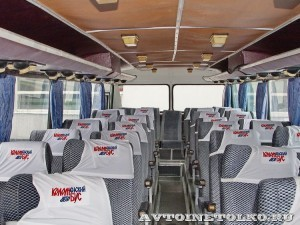Олимпийский автобус ЛАЗ 699Р на фестивале Мир автобусов в Коломне 2013 года салон