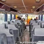Олимпийский автобус ЛАЗ 699Р на фестивале Мир автобусов в Коломне 2013 года салон сзади