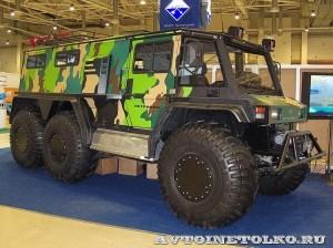 Вездеход на шинах низкого давления Петрович 354-60 на выставке Интерполитех 2011