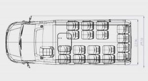 Новый туристический автобус ГАЗель Next от Самотлор-НН планировка салона