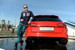 Дарья Коробова на Quattro-горке Audi в Олимпийском парке Сочи