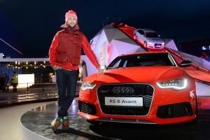 Иван Ургант на Quattro-горке Audi в Олимпийском парке Сочи