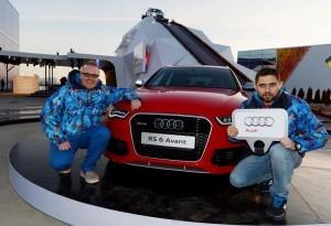 Сергей Стиллавин и Рустам Вахидов на Quattro-горке Audi в Олимпийском парке Сочи