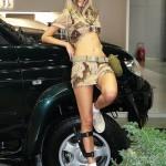 Девушки в камуфляже на Московском автомобильном салоне - 11