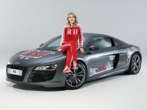 фотосессия олимпийского Audi R8 с участием Ксении Собчак