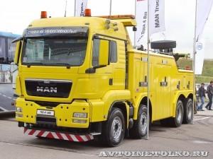 Тяжелый эвакуатор EMPL EH-W 200 Bison на шасси MAN TGX 41.480 8x4 BB-WW на выставке Комтранс 2013 - 1