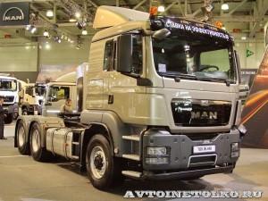 Седельный тягач MAN TGS 26.440 6x6H BLS с приводом Hydro Drive на выставке Комтранс 2013 - 1
