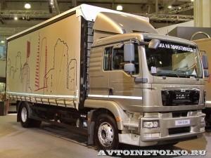 Шторный фургон Мосдизайнмаш на шасси MAN TGM 18.250 4x2 BL на выставке Комтранс 2013 - 1