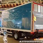Изотермический фургон АМЗ №1 вместимостью 16 европаллетт с грузоподъемным бортом BAR на шасси Volvo FE 4х2 на выставке Комтранс 2013 - 2