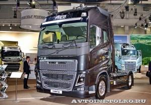 Магистральный тягач Volvo FH16 с двигателем 540 л.с. и кабиной Globetrotter XL на выставке Комтранс 2013 - 1