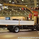 Бортовая платформа Техпро с краноманипуляторной установкой HIAB на шасси Volvo FL на выставке Комтранс 2013 - 2
