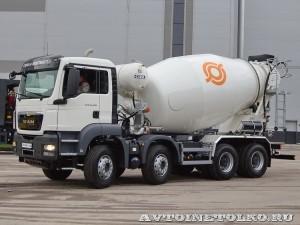 Автобетоносмеситель Cifa SL10 с колбой объемом 10 м³ на шасси MAN TGX 41.400 8x4-WW на выставке Комтранс 2013 - 1