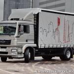 Шторный фургон Мосдизайнмаш на шасси MAN TGM 18.250 4x2 BL на выставке Комтранс 2013 - 2