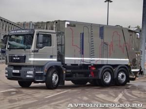 Мусоровоз Zoeller Medium XL-S3 с кузовом объемом 22 м³ на шасси MAN TGM 26.290 6x2-4 BL на выставке Комтранс 2013 - 1