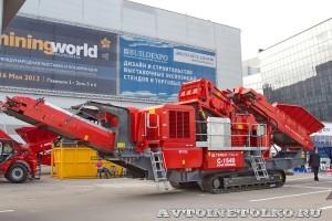 Конусная дробилка на гусеничном ходу Terex Finlay C-1540 на выставке MiningWorld Russia 2013 - 7