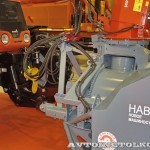 фрезерно-роторный снегоочиститель Шторм-2600 с трактором Terrion Навигатор-НМ на выставке Дорога-2013 - 5