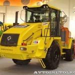 ДЭ-210 БФ-2 на тракторе К-708 на выставке Дорога-2013 - 6