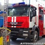Пожарная автоцистерна АЦ 5,0-50-7 модель 003Б-ЧС на шасси  IVECO Trakker AD190T33 ООО Чибис  на выставке Комплексная Безопасность 2013 - 1