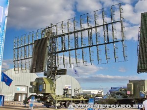 Трехкоординатная PЛC средних и больших высот дежурного режима 55Ж6УМЕ на Авиасалоне МАКС-2013 - 1