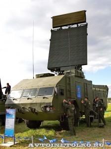 радиолокационная станция обнаружения целей 9С18М1-3Э из состава ЗРК Бук-М2Э на Авиасалоне МАКС-2013 - 1
