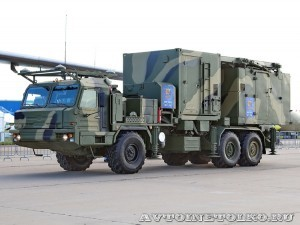 многофункциональная радиолокационная станция 50Н6Е из состава ЗРК С-350Е Витязь на Авиасалоне МАКС-2013 - 1