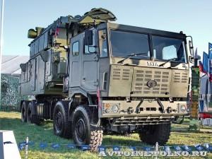 Автономный боевой модуль 9А331МК-1 из состава ЗРК Тор-М2КМ на шасси Tata на Авиасалоне МАКС-2013 - 4