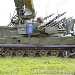 зенитная самоходная установка 2С6М1 из состава комплекса Тунгуска-М1 на Авиасалоне МАКС-2013 - 3