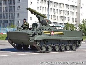 боевая машина 9П157-2 комплекса Хризантема-С на параде 9 мая 2014 года в Москве - 4