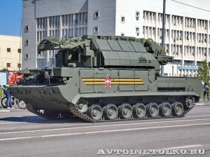 радиолокационная машина обнаружения целей 9А331-1 комплекса Тор-М2У на параде 9 мая 2014 года в Москве - 5