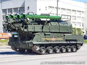 самоходная огневая установка 9А317 комплекса ПВО Бук-М2 на параде 9 мая 2014 года в Москве - 2
