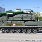 самоходная огневая установка 9А317 комплекса ПВО Бук-М2 на параде 9 мая 2014 года в Москве - 3