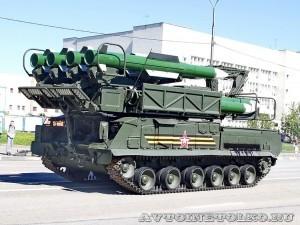 пуско-заряжающая установка 9А316 комплекса ПВО Бук-М2 на параде 9 мая 2014 года в Москве - 2
