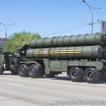 пусковая установка зенитно-ракетной системы С-400 Триумф на параде 9 мая 2014 года в Москве - 1