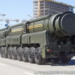 пусковая установка ракетного комплекса Тополь-М на параде 9 мая 2014 года в Москве - 1