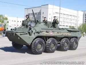бронетранспортер БТР-80 на параде 9 мая 2014 года в Москве - 4